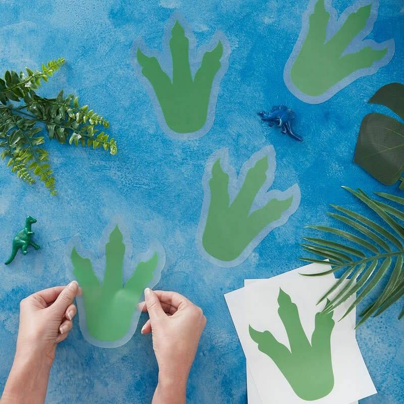 GINGERRAY Dinosaur Party Foot Print Stickers- Roar