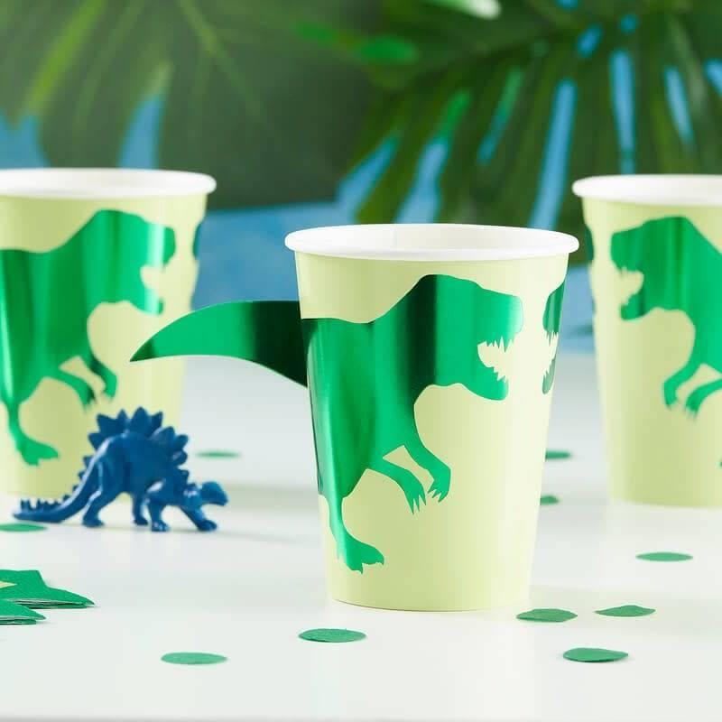 GINGERRAY Dinosaur Party Paper Cups- Roar