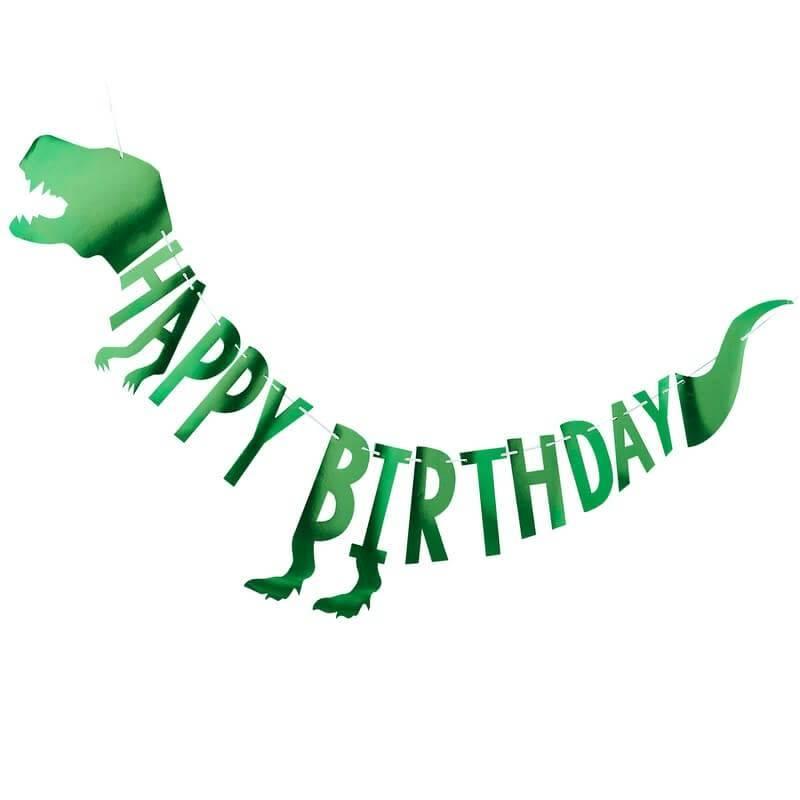 GINGERRAY Dinosaur Happy Birthday Bunting- Roar