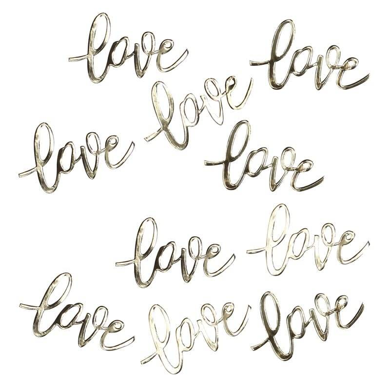 GINGERRAY Gold Love Table Confetti- Gold Wedding