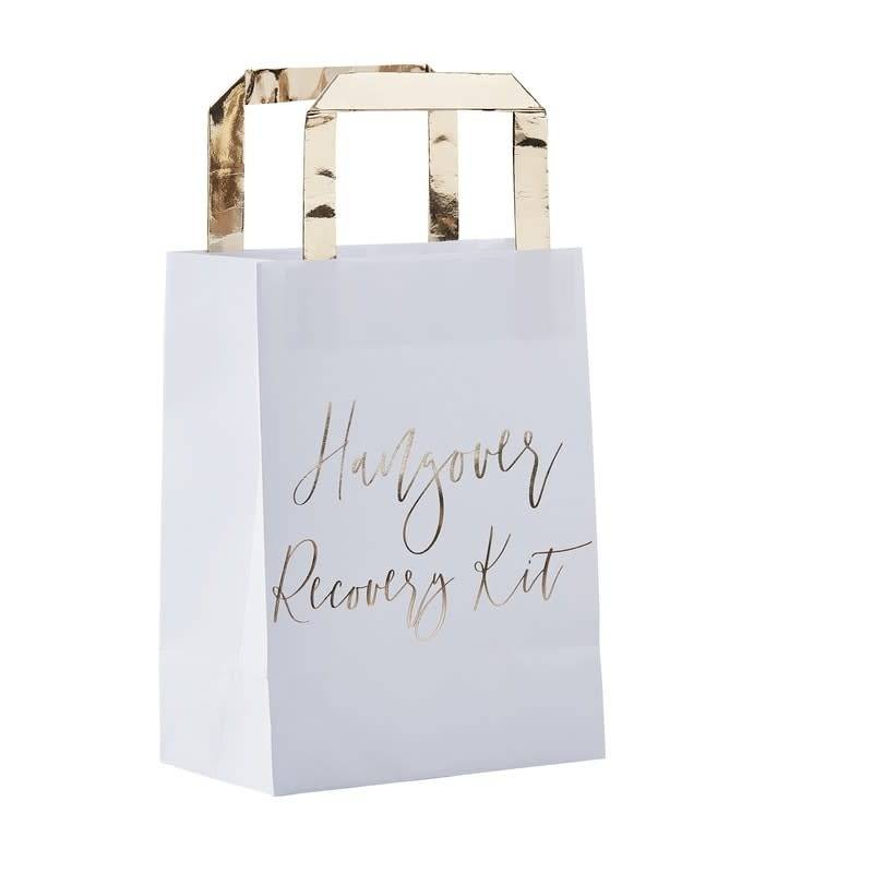 GINGERRAY Gold Hangover Recovery Kit Bags- Gold Wedding