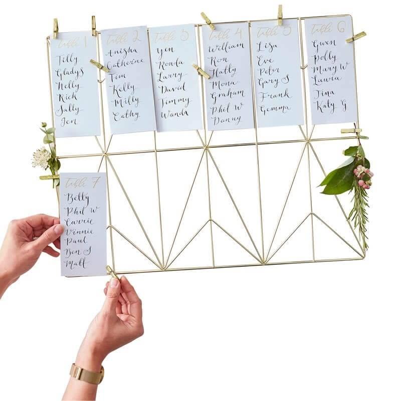 GINGERRAY Gold Wedding Table Planner Kit- Gold Wedding