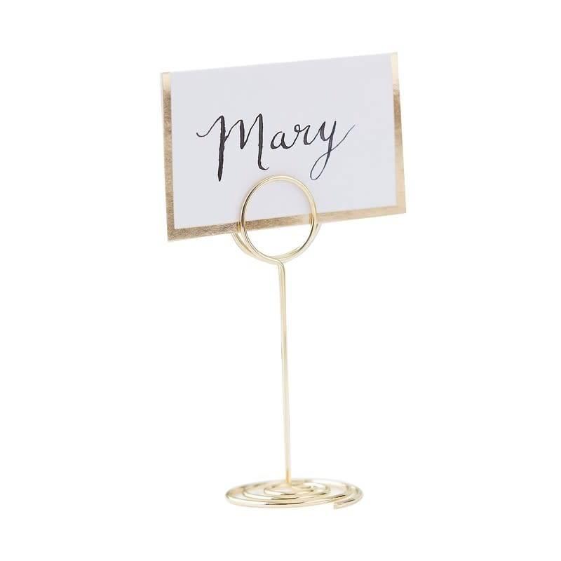 GINGERRAY Gold Place Card Holder- Gold Wedding
