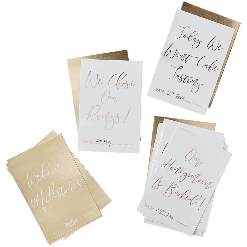 GINGERRAY Gold Wedding Milestone Cards- Gold Wedding