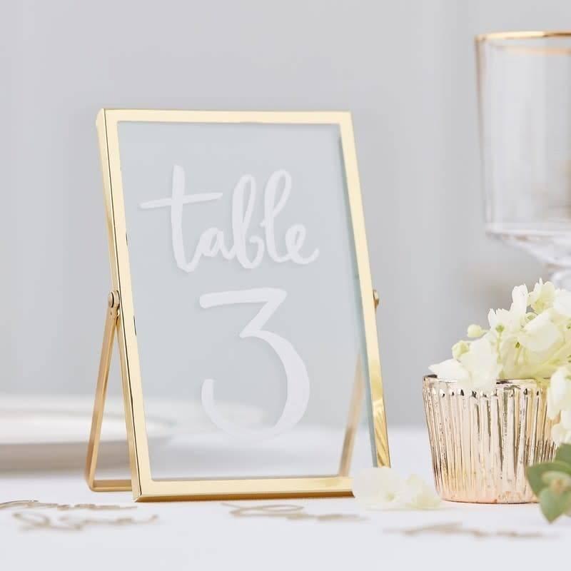 GINGERRAY Gold Photo Freestanding Frame- Gold Wedding