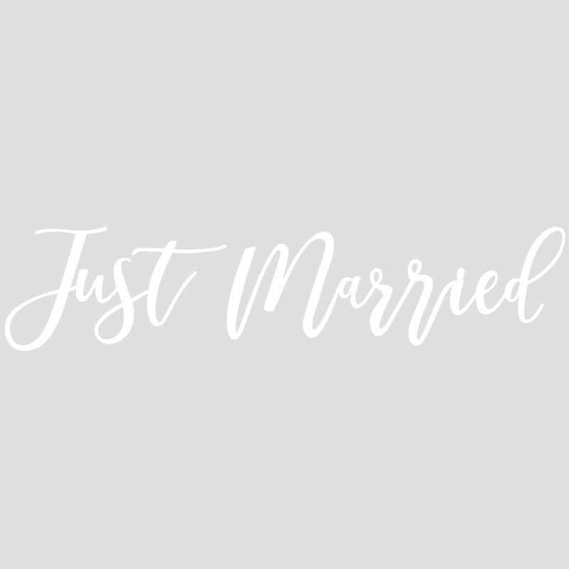 GINGERRAY Just Married Car Sticker- Gold Wedding