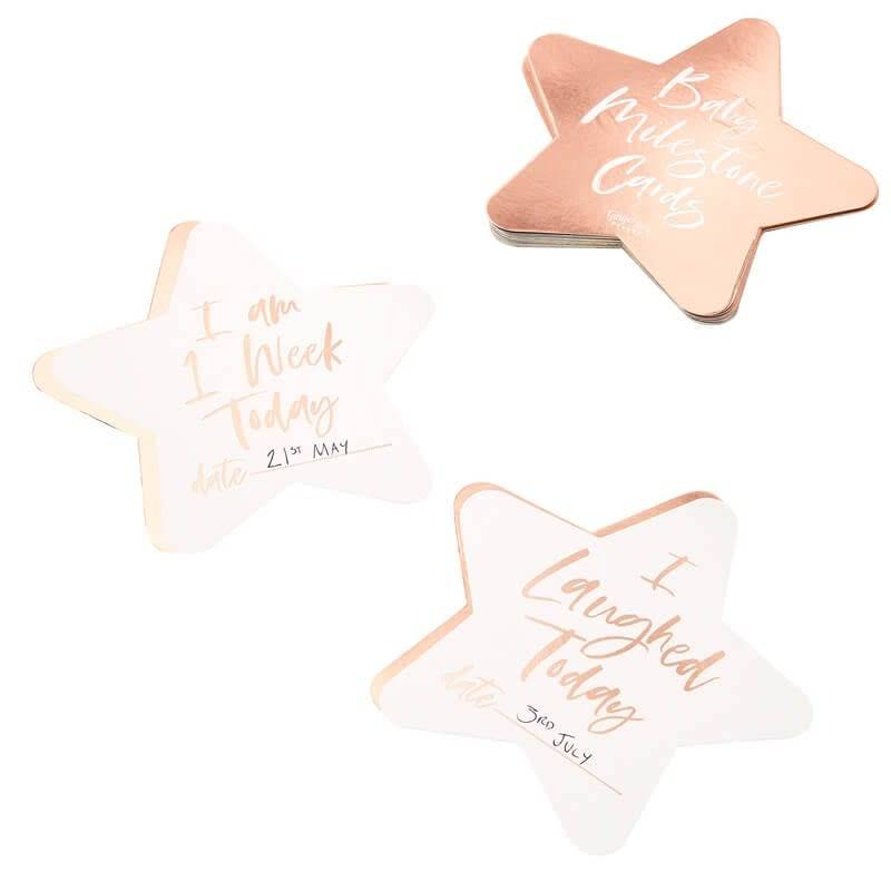 GINGERRAY Rose Gold Foiled Milestone Cards- Twinkle Twinkle