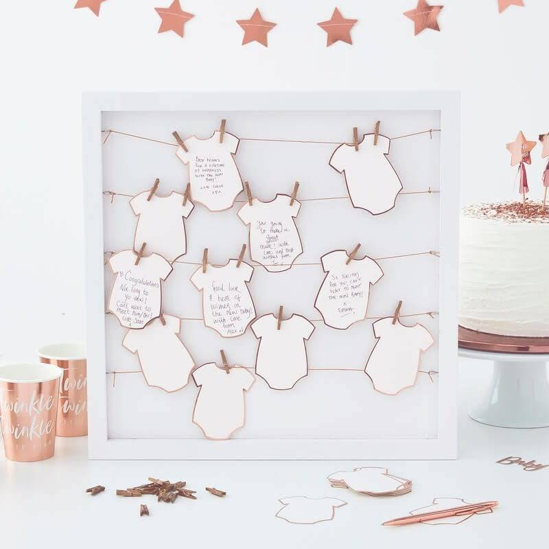 GINGERRAY Alternative Baby Grow Guest Book- Twinkle Twinkle