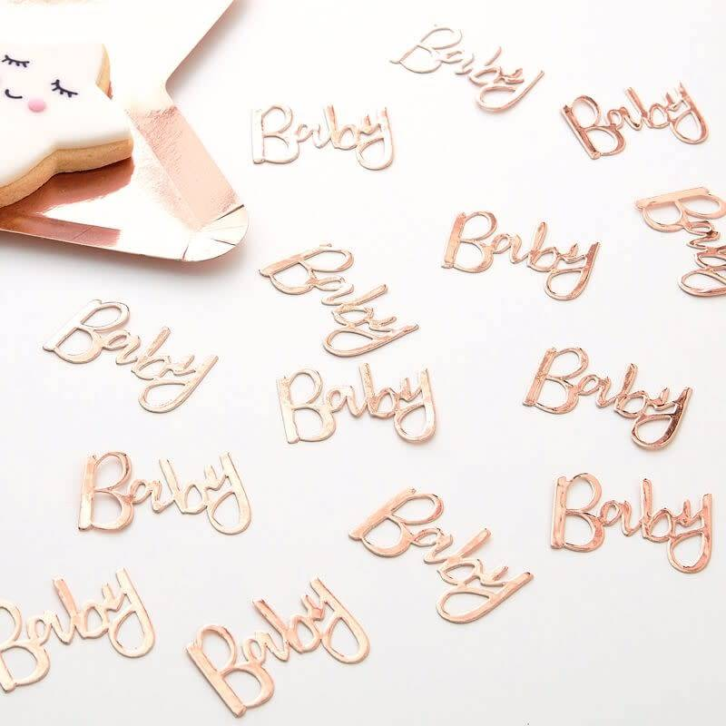 GINGERRAY Rose Gold Baby Table Confetti- Twinkle Twinkle