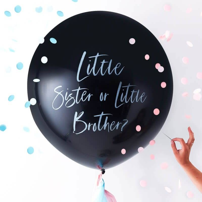 GINGERRAY Gender Reveal Little Brother Or Little Sister Balloon- Twinkle Twinkle