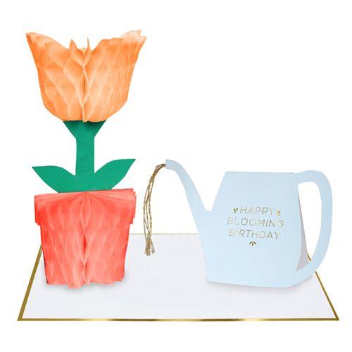 MERIMERI Flower honeycomb card