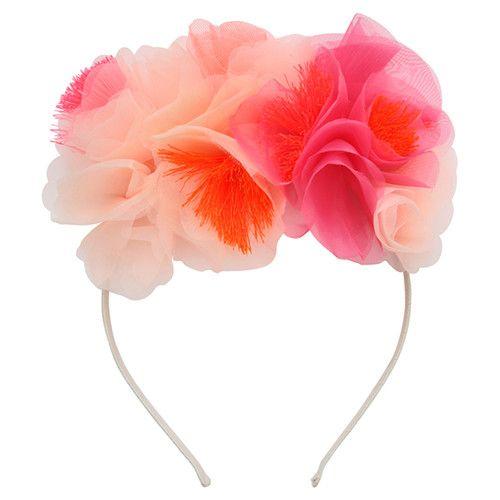 MERIMERI Pink floral headband