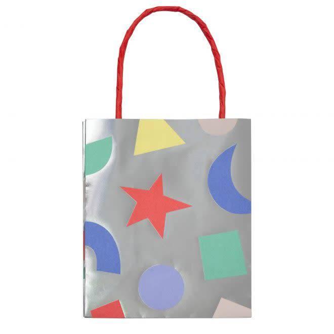 MERIMERI Silver geometric bags