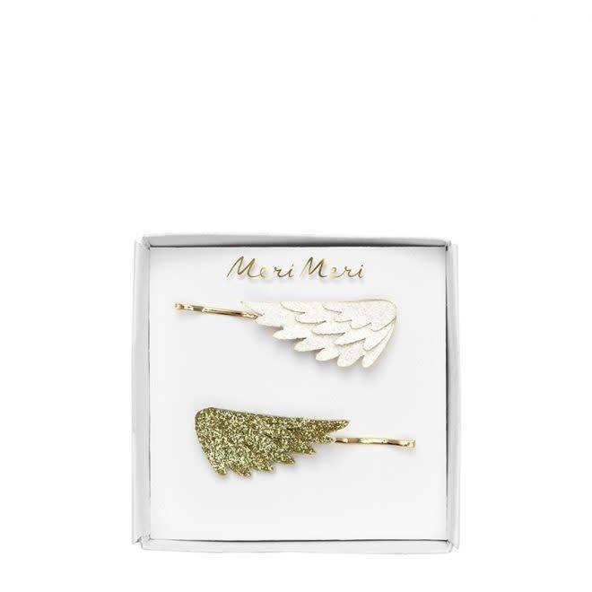 MERIMERI Glitter wing hair slides