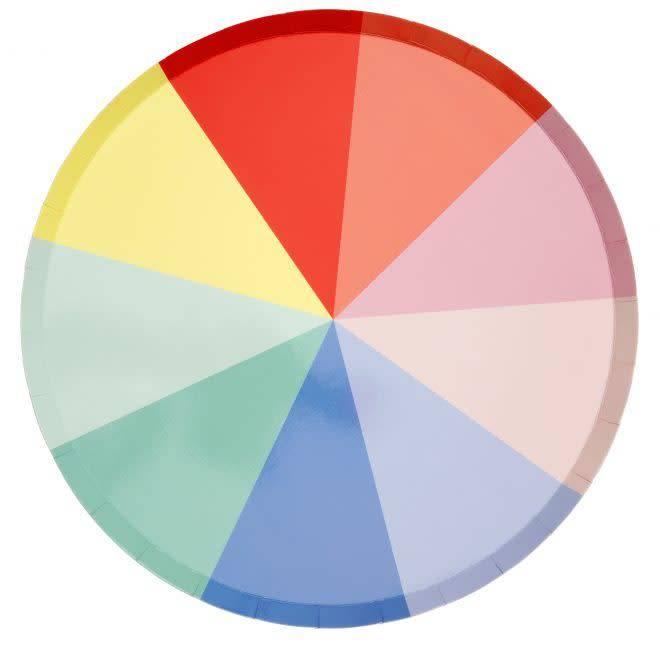 MERIMERI Color wheel plates L