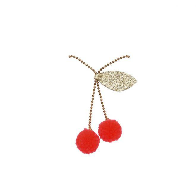 MERIMERI Cherry pompom necklace
