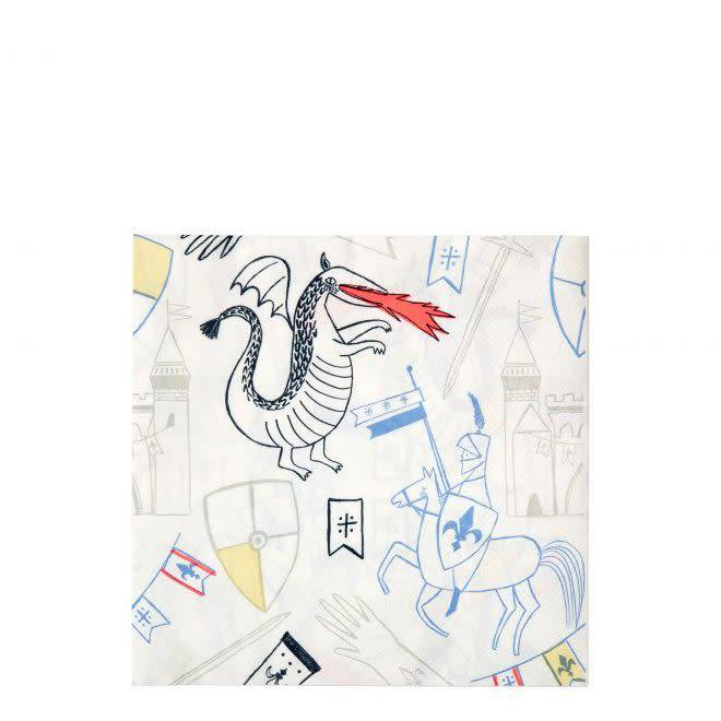 MERIMERI Dragon & knights napkins L