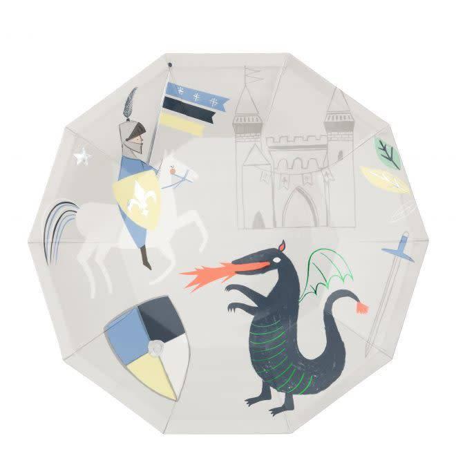 MERIMERI Dragon & knights plates L