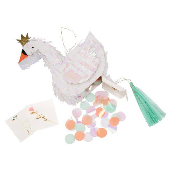 MERIMERI Swan piñata favor