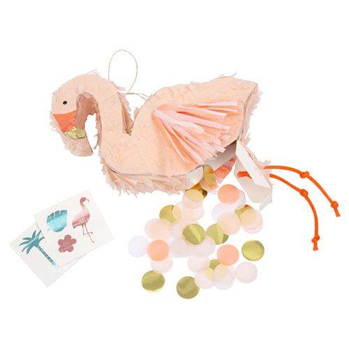 MERIMERI Flamingo piñata favor