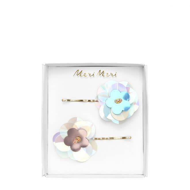 MERIMERI Sequin flower hair slides