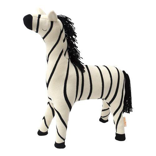 MERIMERI Ray zebra knitted toy
