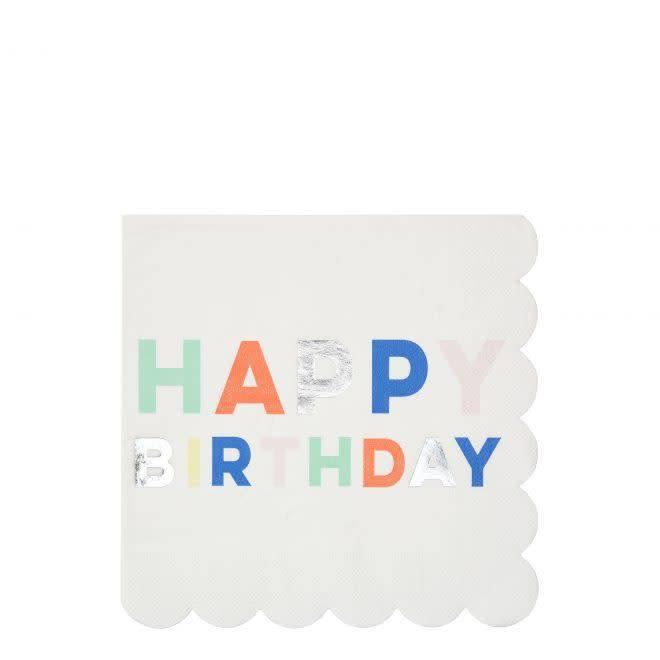 MERIMERI Birthday palette napkins L