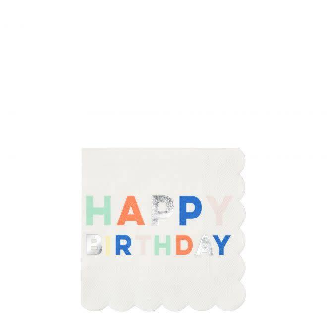 MERIMERI Birthday palette napkins S