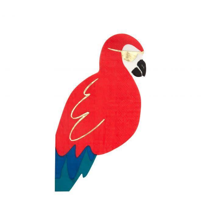 MERIMERI Pirate parrot napkins