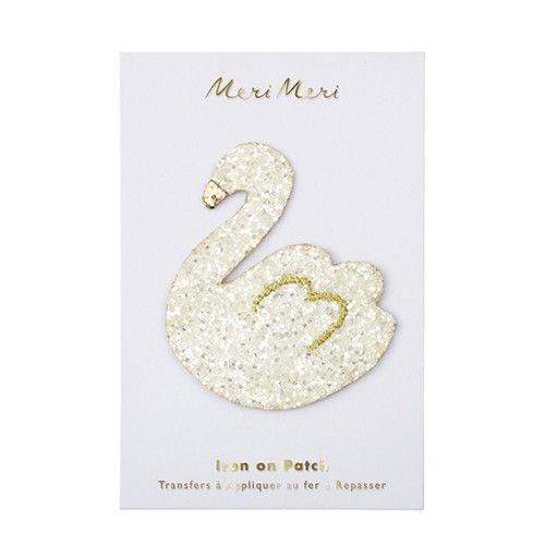 MERIMERI Glitter swan patch