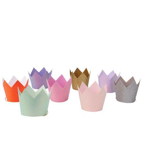 MERIMERI Glitter party crowns