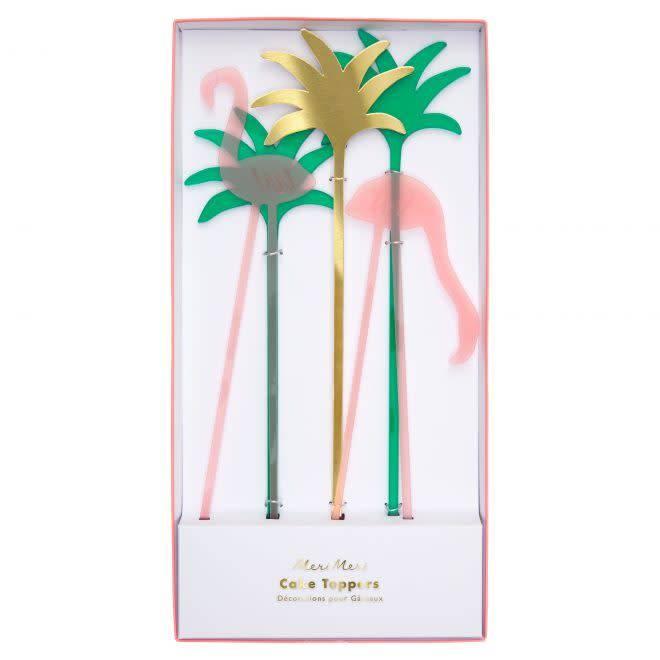 MERIMERI Flamingo cake toppers