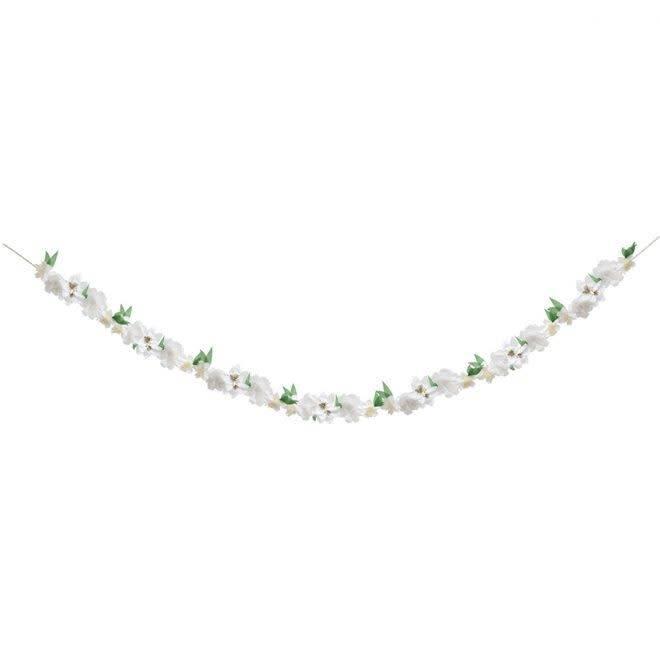 MERIMERI White blossom garland
