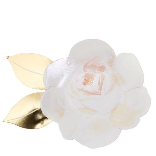 MERIMERI White rose plates