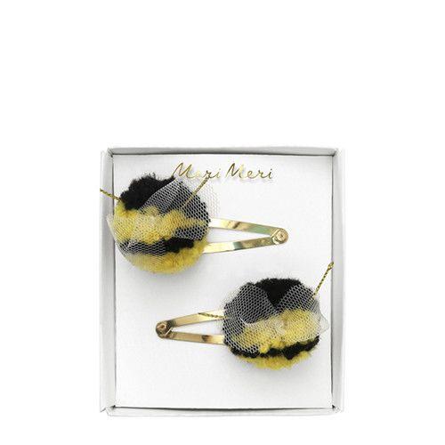 MERIMERI Bumblebee pompom hair clips