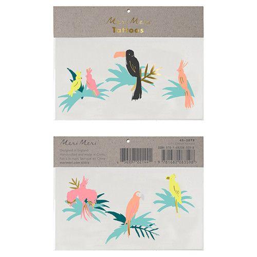 MERIMERI Tropical bird tattoos