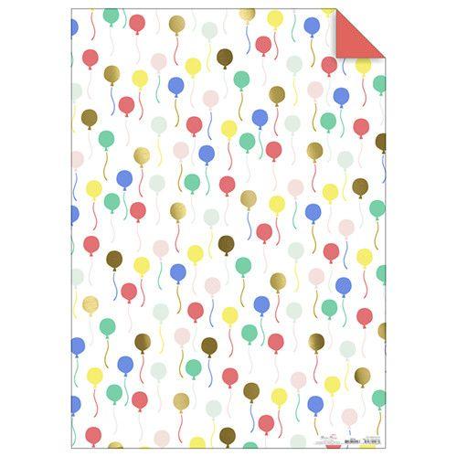 MERIMERI Balloons gift wrap roll