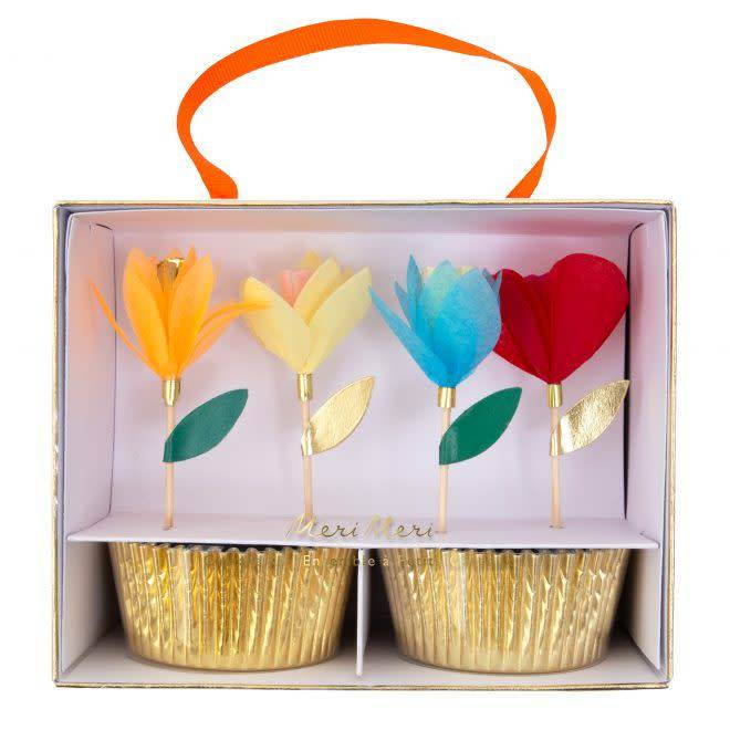 MERIMERI Bright flower cupcake kit