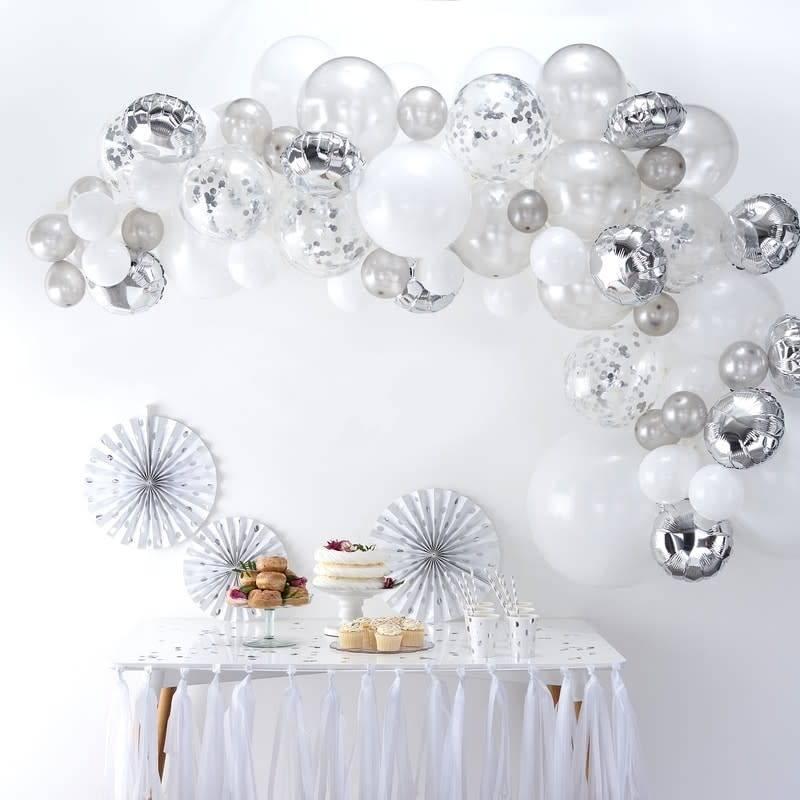GINGERRAY Balloon Arch Kit - Silver - Balloon Arches