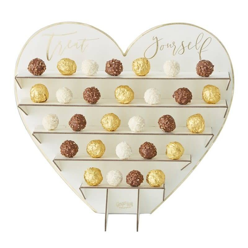 GINGERRAY Treat Yourself Chocolate Treat Stand- Gold Wedding