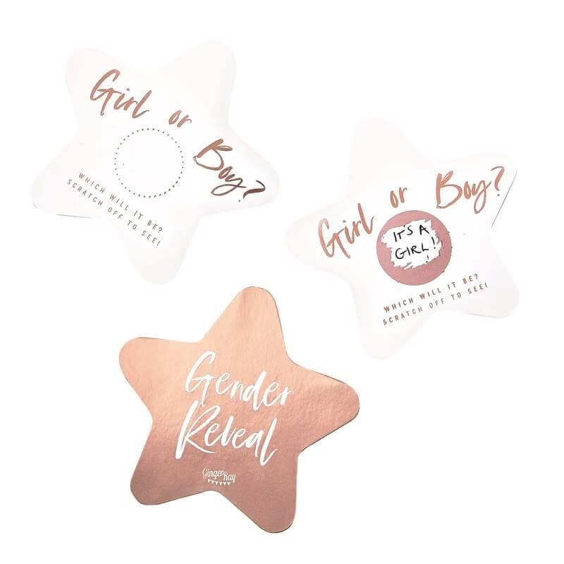 GINGERRAY Gender Reveal Scratch Cards- Twinkle Twinkle