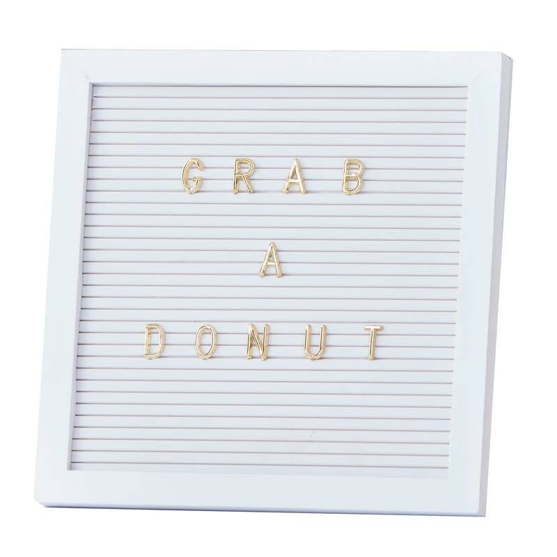 GINGERRAY Peg Board With Gold Letters - Gold Wedding