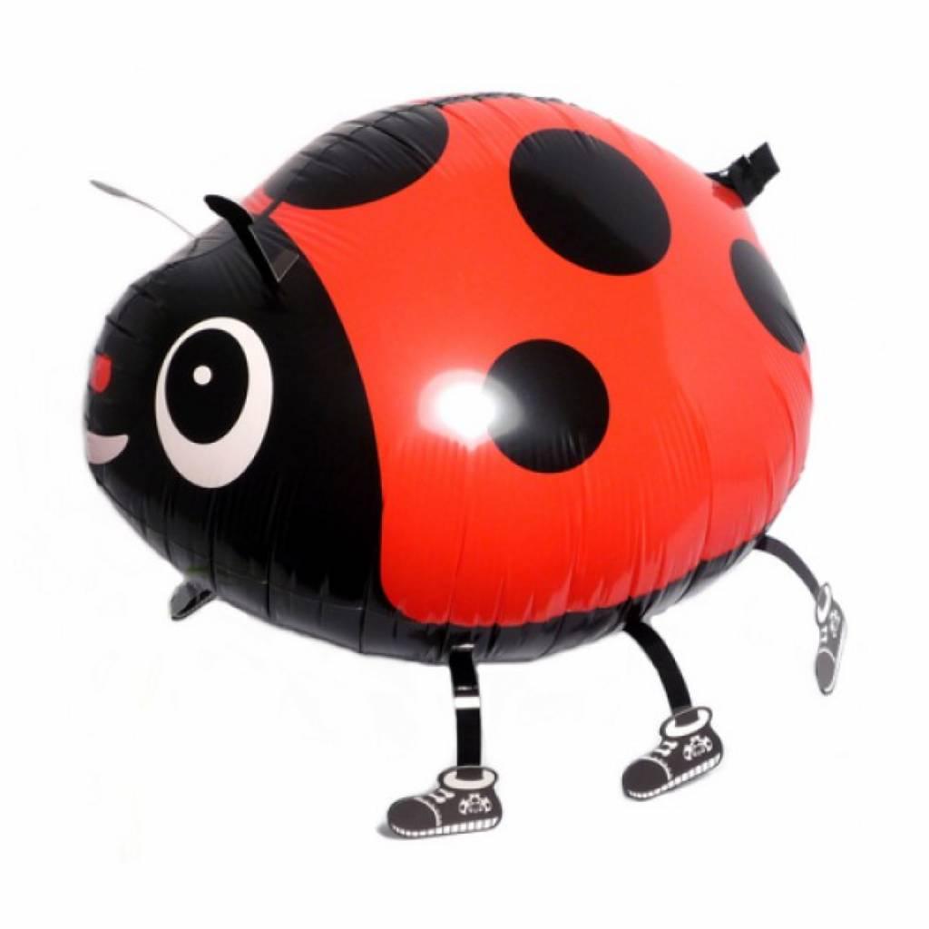 HH walking foil balloon ladybug 57 cm