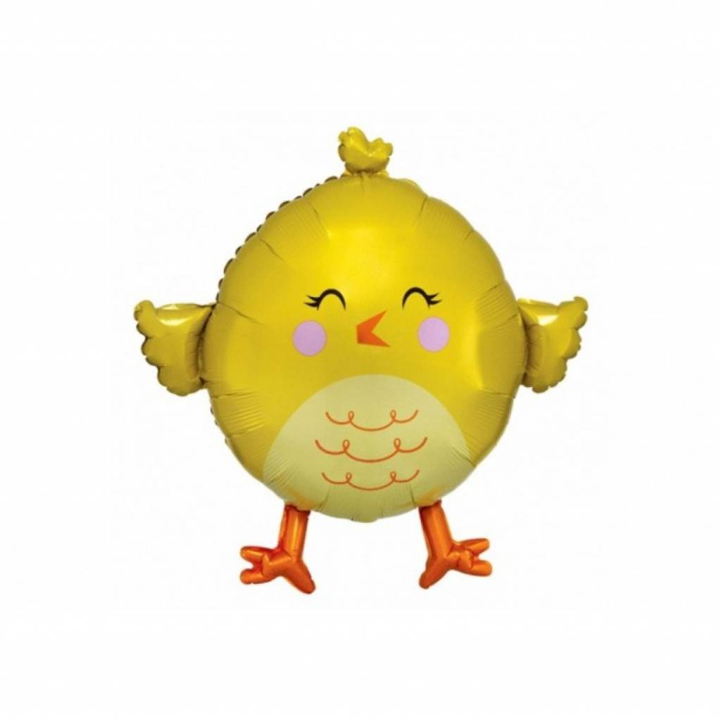 HH yellow chicky foil balloon 71 cm