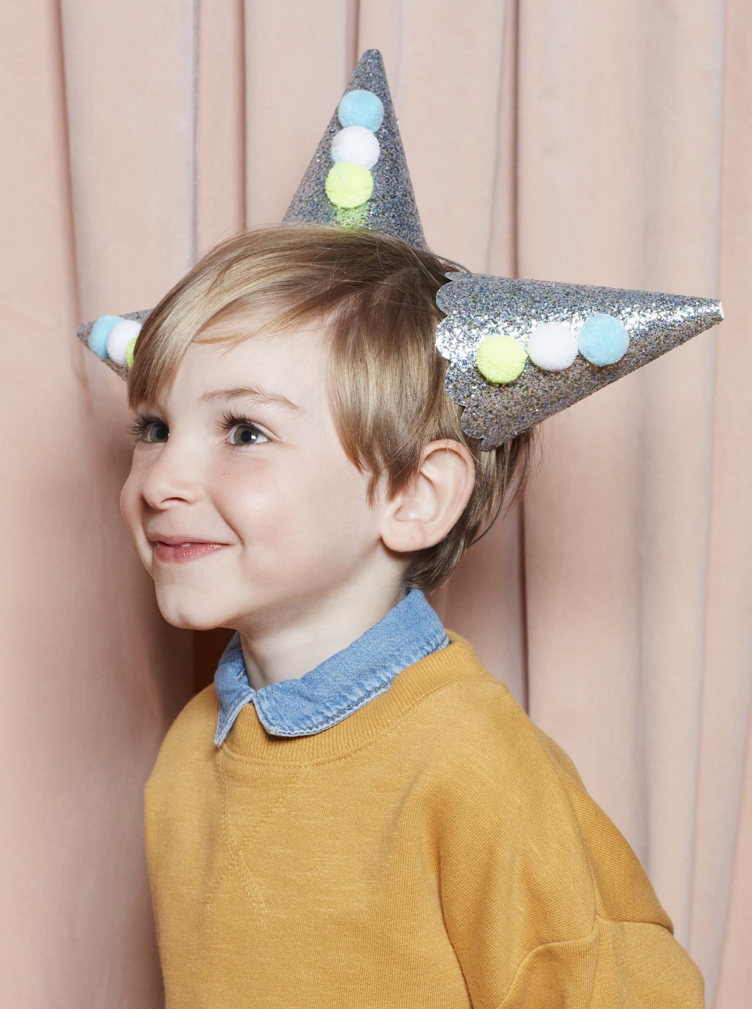 MERIMERI Pierrot glitter hats L