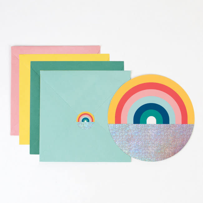 MY LITTLE DAY Rainbow invitations 8 x