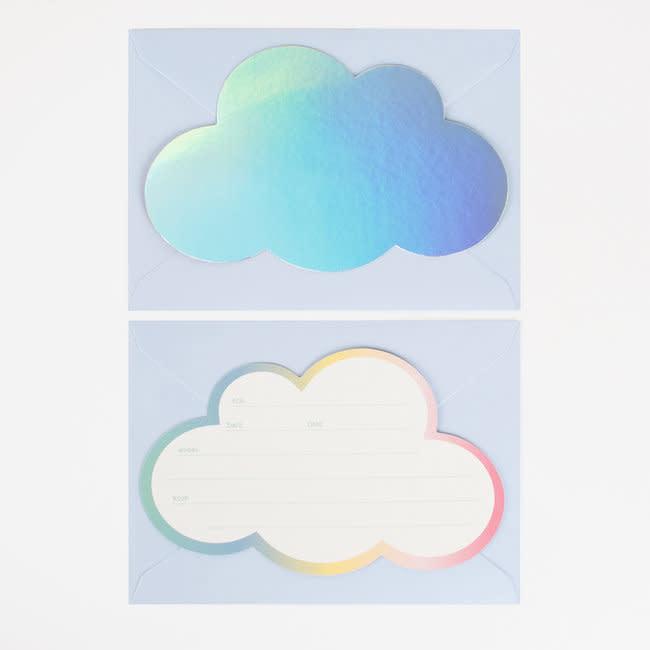 MY LITTLE DAY Invitations shiny cloud 8 x
