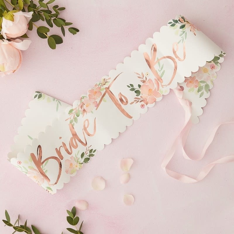 GINGERRAY BRIDE TO BE HEN SASH - FLORAL HEN PARTY