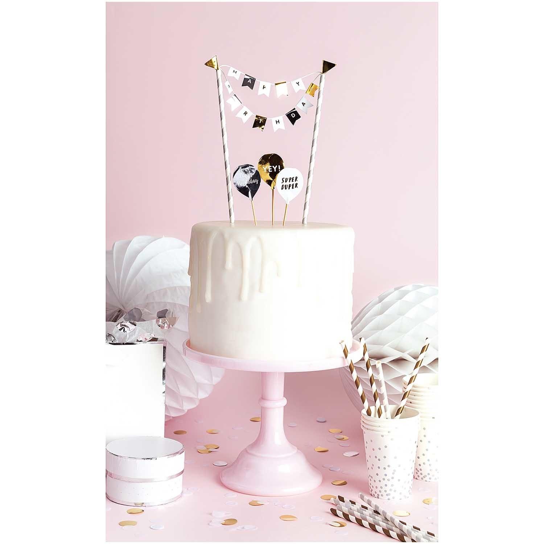 RICO CAKE DECORATION, HAPPY BIRTHDAY, CLASSIC