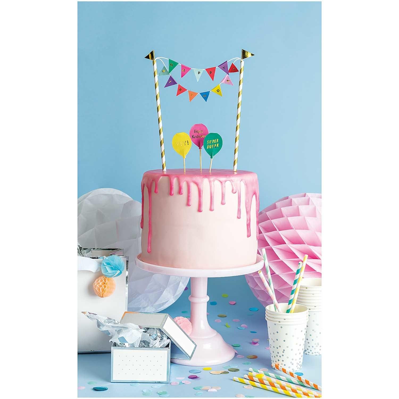 RICO CAKE DECORATION, HAPPY BIRTHDAY, MULTICOLOUR